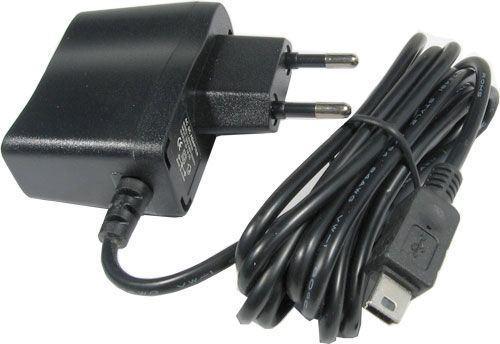 Napáječ, síťový adaptér USB 5V/1A spínaný, koncovka USB mini