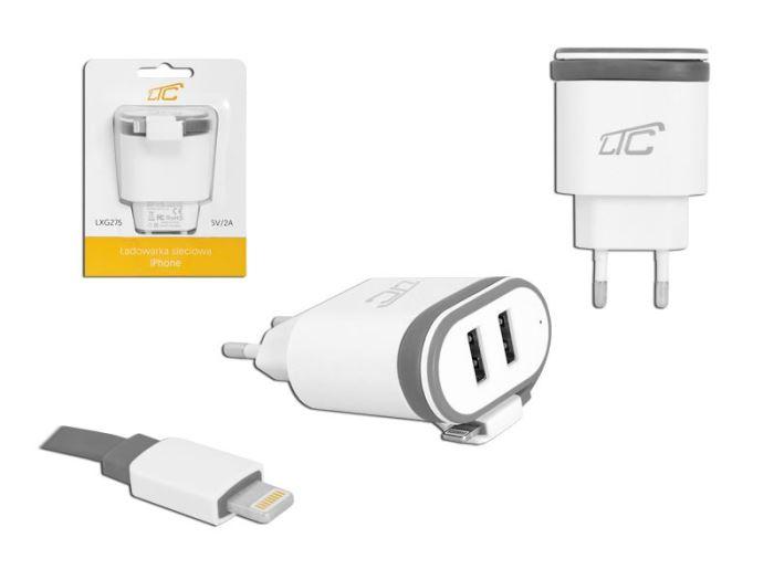 Napáječ, síťový adaptér USB 5V/2A, LTC - nabíječka pro Lightning