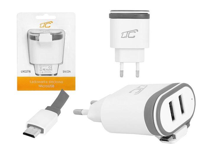 Napáječ, síťový adaptér USB 5V/2A, LTC, micro USB