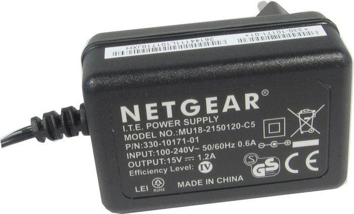 Napáječ, síťový adaptér NETGEAR 15V/1,2A spínaný, koncovka 5,5x2,1mm