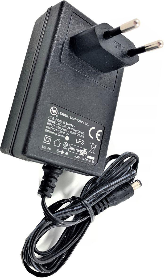 Napáječ, síťový adaptér LEI 12V/2A spínaný, koncovka 5,5x2,1mm