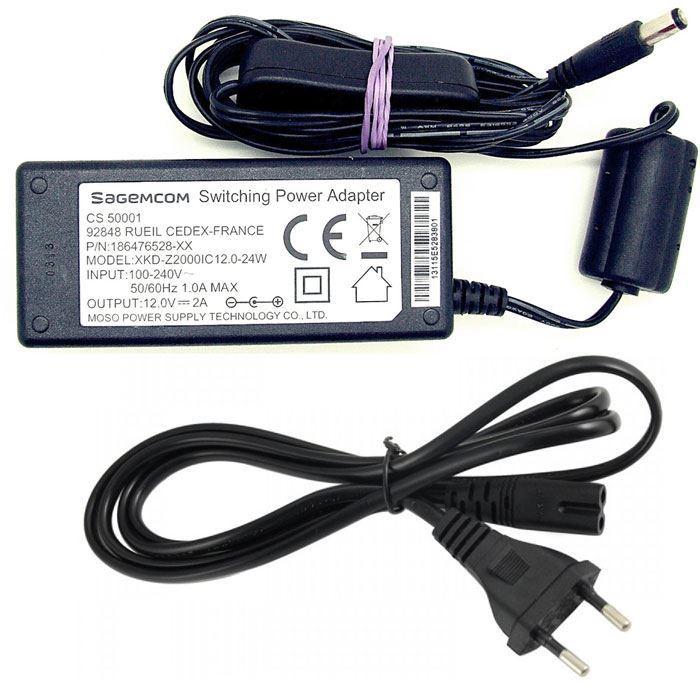 Napáječ Sagemcom XKD-2000IC12.0-24W, 12V/2A, konc.5,5x2,1mm, vypínač