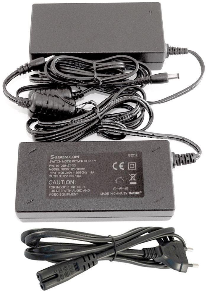 Napáječ, síťový adaptér Sagemcom 12V/5A spínaný, konc.5,5/2,5mm