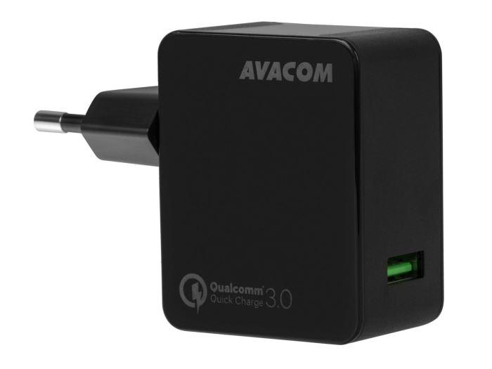 Napáječ AVACOM HomeMAX, spínaný s USB zdířkou černý