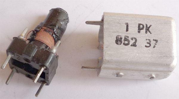 Cívka vf 10x10x16mm, trn 5mm, feritové jádro, 1PK85237