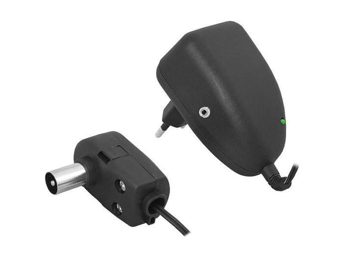 Napáječ, síťový adaptér  12V/0,1A s antenní výhybkou, + 5V DC, 90cm