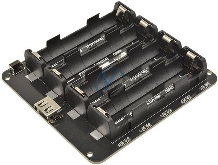 Nabíječka-powerbanka, modul V8 pro ESP32,ESP8266 pro 4x Li-Ion 18650