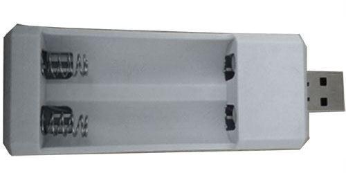 Nabíječka 2xAA/AAA, napájení USB