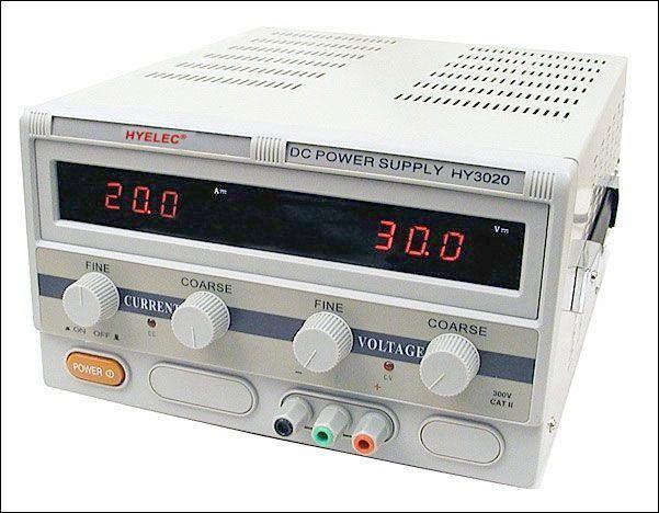 Laboratorní zdroj HYELEC HY3020E 0-30V/0-20A