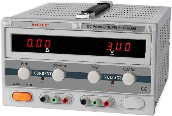 Laboratorní zdroj HYELEC HY3030E 0-30V/0-30A