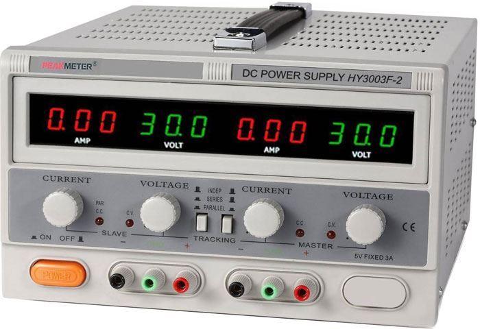 Laboratorní zdroj PeakMeter HY3003F-2 2x0-30V/0-3A