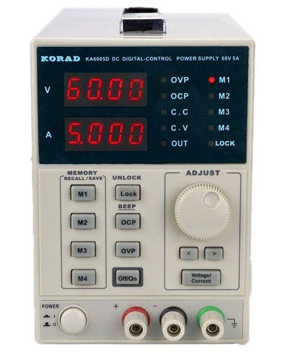 Laboratorní zdroj KORAD KA6005D 0-60V 0-5A s pameti