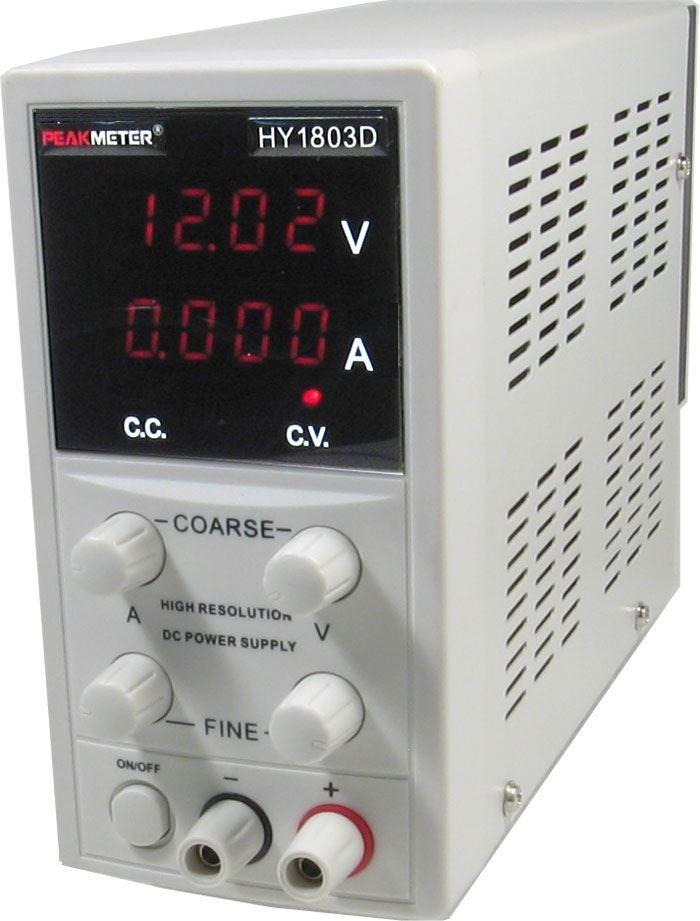 Laboratorní zdroj PeakMeter HY1803D 0-18V/0-3A