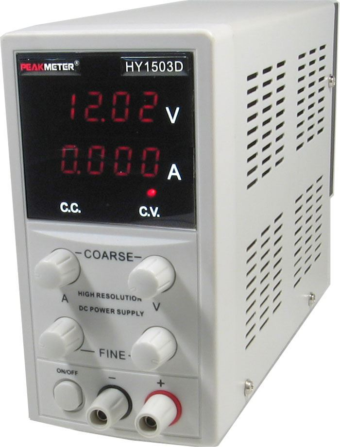 Laboratorní zdroj PeakMeter HY1503D 0-15V/0-3A