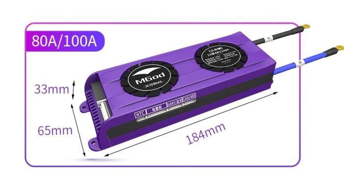 Smart BMS pro 4S LiFePO4 články (12,8V) 100A s bluetooth