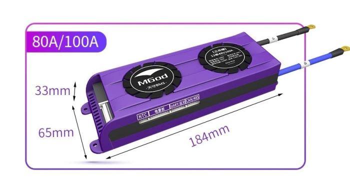Smart BMS pro 8S LiFePO4 články (25,6V) 100A s bluetooth