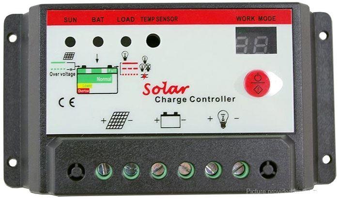 Solární regulátor PWM KTD1220, 12-24V/20A