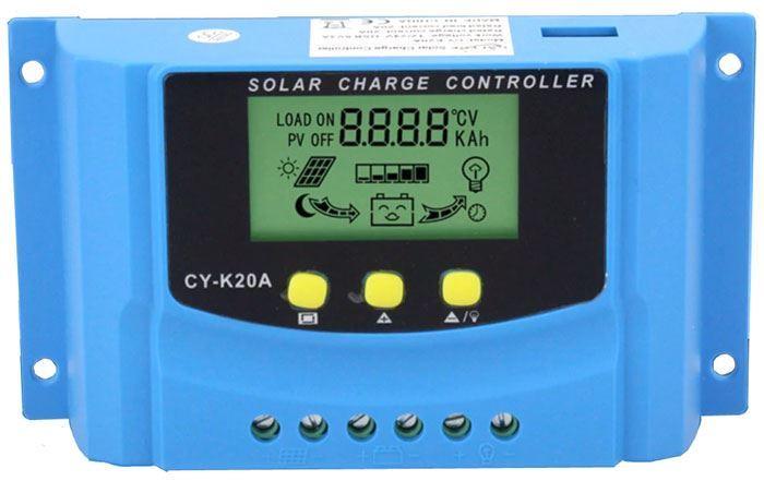 Solární regulátor PWM CY-K20A, 12-24V/20A pro různé baterie