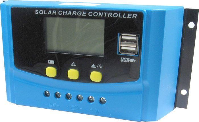 Solární regulátor PWM CY-K40A, 12-24V/40A pro různé baterie
