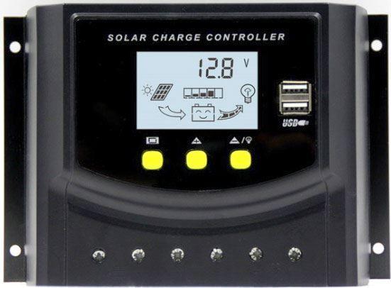 Solární regulátor PWM LD2450 12-24V/50A s LCD