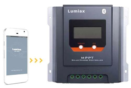 Solární regulátor MPPT Lumiax MT3075-BT, 12-24V/30A, s bluetooth