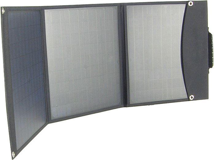 Fotovoltaický solární panel USB+12V/60W přenosný skládací, DOPRODEJ