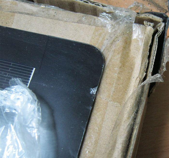Fotovoltaický solární panel 12V/160W flexibilní, poškozený přívod
