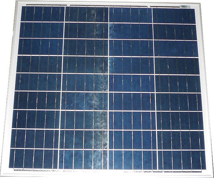 Fotovoltaický solární panel 12V/60W polykrystalický 630x680x30mm
