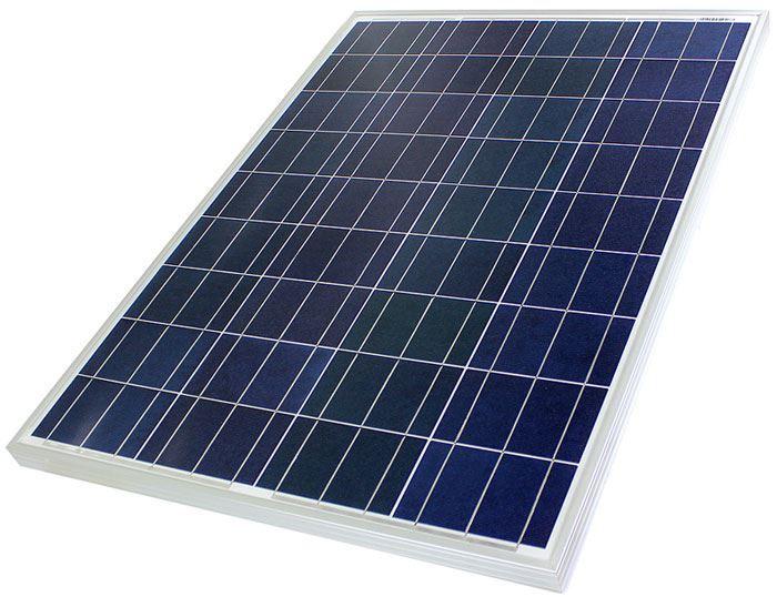 Fotovoltaický solární panel 12V/80W polykrystalický 670x770x30mm
