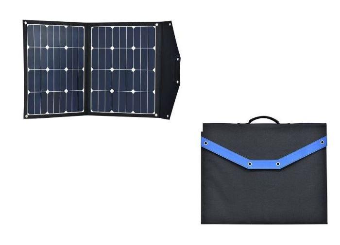 Přenosný fotovoltaický solární panel 12V/2x40W s regulátorem 10A