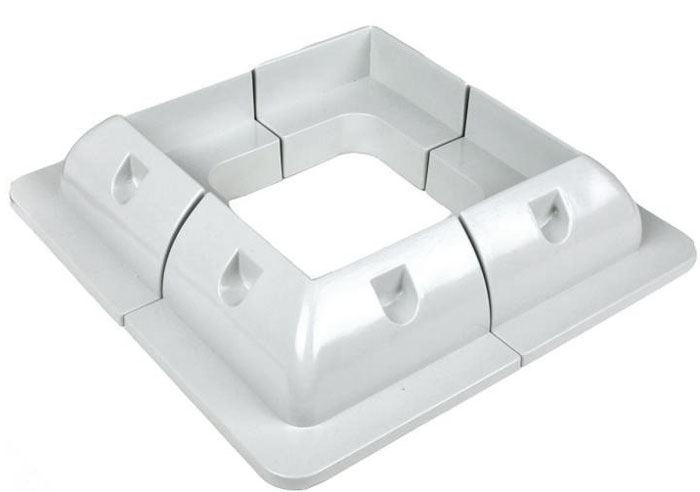 Držák pro fotovoltaický panel rohový - balení 4ks, bílý