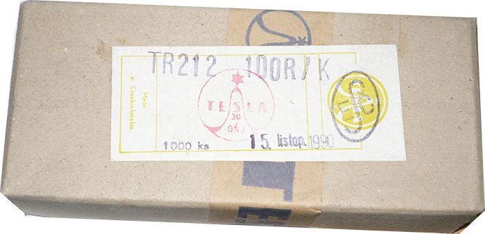 100R TR212 rezistor 0,125W, 10%, balení 1000ks