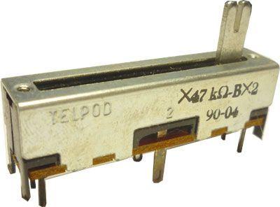 47k/G x2 TELPOD SVP-30,  potenciometr tahový tandemový