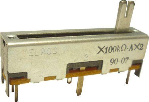 100k/N x2 TELPOD SVP-30, potenciometr tahový tandemový