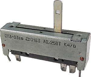 470R/N SP3-23, potenciometr tahový