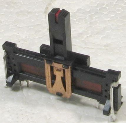 250k/N x2, ALPS, 35x13x5mm, potenciometr tahový tandemový
