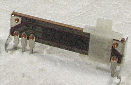 100k/N x2, 40x10x3mm, potenciometr tahový tandemový