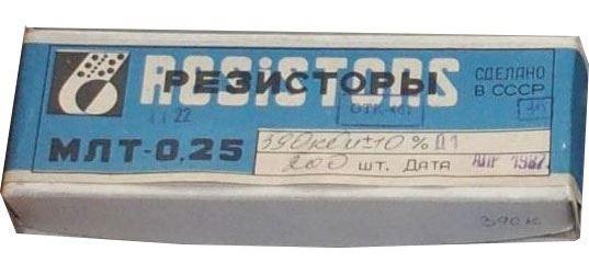 2M0 MLT-0,25, rezistor 0,25W, 5%, balení 200ks