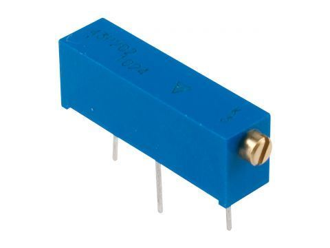 43P 10k trimr víceotáčkový ležatý cermetový, lineární VISHAY 100ppm