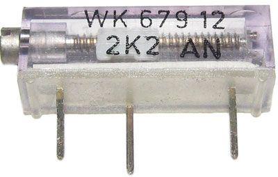 WK67912 - 100R, cermetový trimr 16 otáček