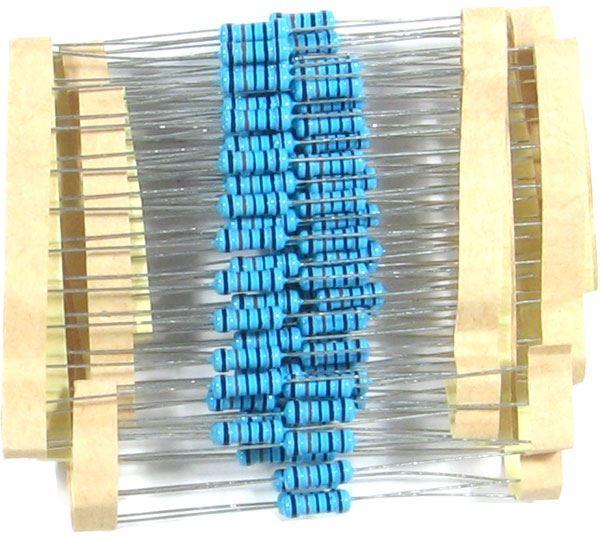 100k 0309, rezistor 0,5W metaloxid, 1%, balení 100ks