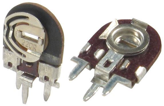 1k0 - TGL11886, trimr lakosazový stojatý RM5x2,5mm /~TP008/