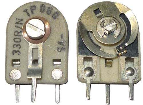 1k5 - TP060, trimr cermetový ležatý RM10x12,5mm