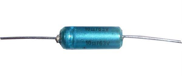 10u/63V TF011, elektrolyt. kondenzátor axiální