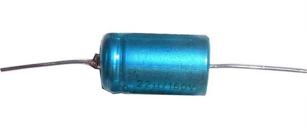 10u/160V TF013, elektrolyt.kondenzátor axiální