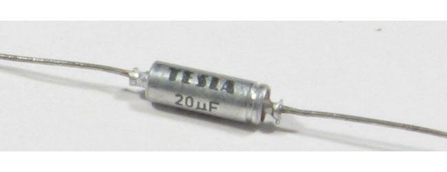 20u/6V TE981, elektrolyt.kondenzátor axiální
