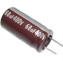68u/400V 105° 16x31x7,5mm, elektrolyt.kondenzátor radiální