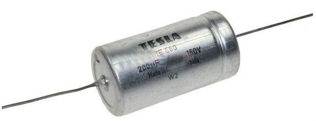 200u/160V TE680, elektrolyt.kondenzátor axiální