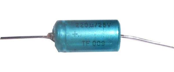 220u/25V TF009, elektrolyt.kondenzátor axiální