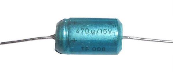 470uF/16V TF008, elektrolyt.kondenzátor axiální